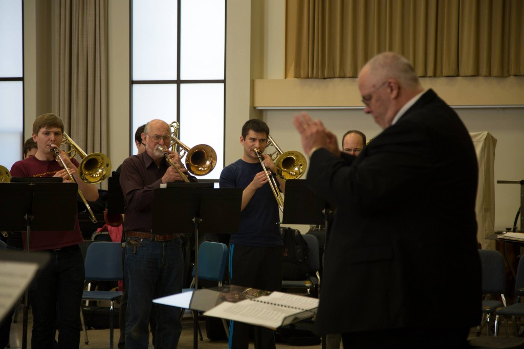 Ron Barron playing with Mark Lusk conducting
